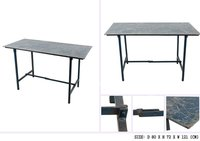 IRON TABLE WITH DISTRESS TOP