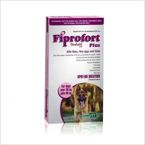 FIPROFORT PLUS DOG - 20 TO 40KG-FIPRONIL 9.8% W/V + S- METHOPR