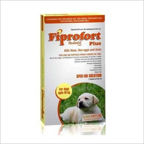 FIPROFORT PLUS DOG UPTO 10KG-FIPRONIL 9.8% W/V + S- METHOPR