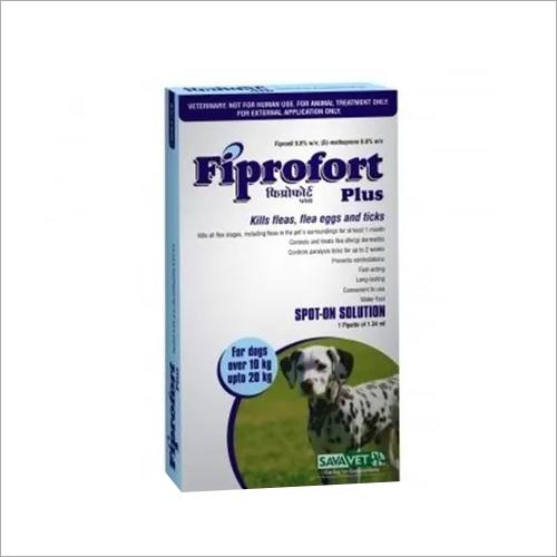 FIPROFORT PLUS DOG- 10 TO 20KG-FIPRONIL 9.8% W/V + S- METHOPR