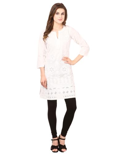 Women's Cotton Chikankari Kurti