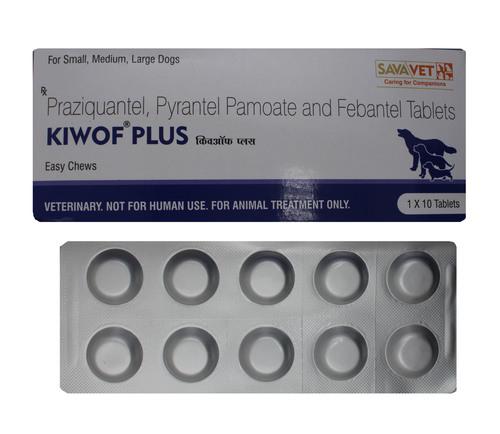 Kiwof Plus For Dogs 10s Praziquantel Pyrantel Embonate