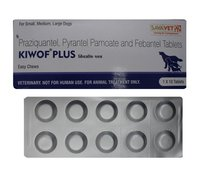 Kiwof Plus For Dogs 10s Praziquantel Pyrantel Embonate