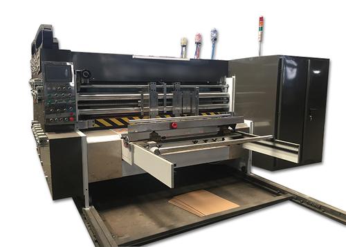 Four Color Flexo Printing Slotting Die Cutting Machine Medium Speed Type