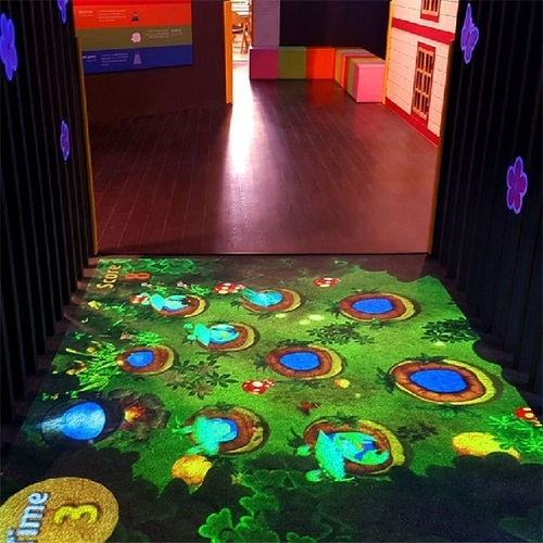 Children Playground Floor Projection System 3D Interactive Projector Game