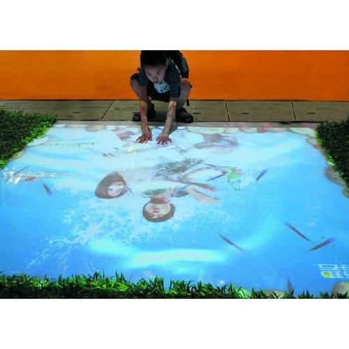 Children interactive projection games interactive floor system