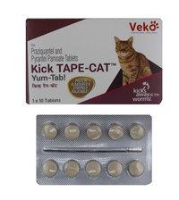 Kick Tape Cat Tablet 10s Praziquantel Pyrantel Embonate