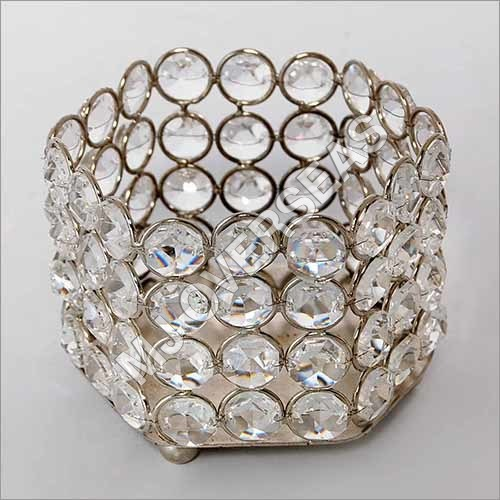 Decorative Crystal Candle Holder