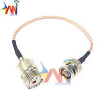 Female To BNC Male Coax RF UHF VHF