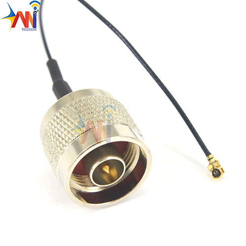 N Plug Male To Uflipx Connector Pigtail Cable 1.13 Cable 15cm