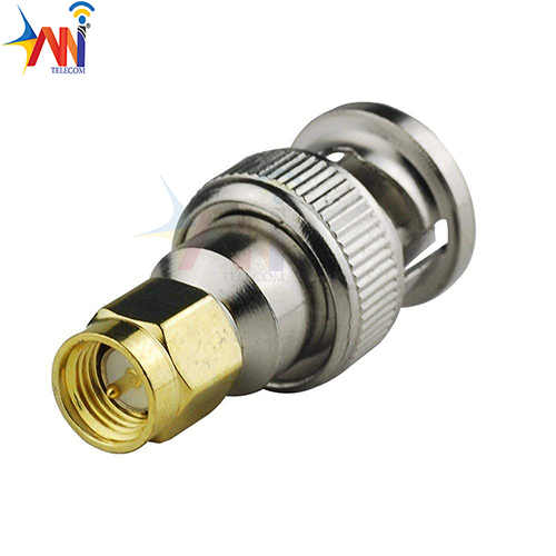 RF Coaxial Coax Adapter SMA Male to BNC Male