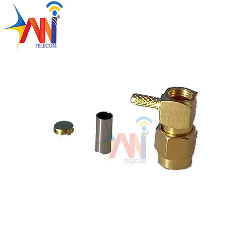 SMA Male RA For RG58 Gold Plated