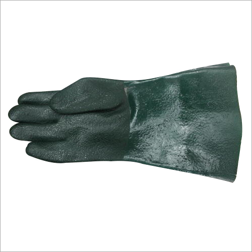 PVC Supported Green Hand Gloves