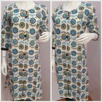 Ladies Flower Printed Kurtis