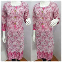 Ladies Printed Pink Kurtis