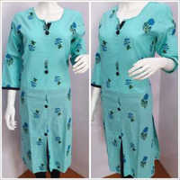Ladies Quarter Sleeve Printed Kurtis