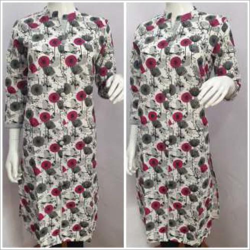 Ladies Collar Printed Kurtis