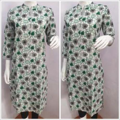 Designer Ladies Collar Printed Kurtis