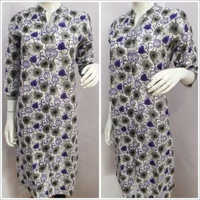 Ladies Flower Printed Collar Kurtis