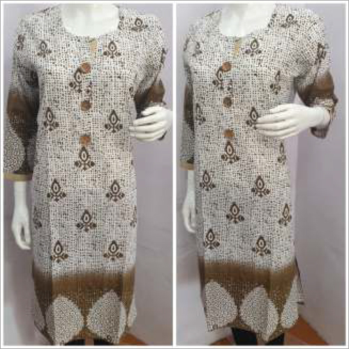 Ladies 3-4 Sleeves Printed Kurtis