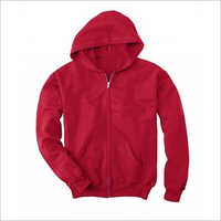 Mens Plain Hooded Sweatshirt