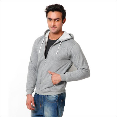 Mens Zipper Hooded Sweatshirt