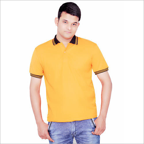 Mens Yellow Polo T-Shirt