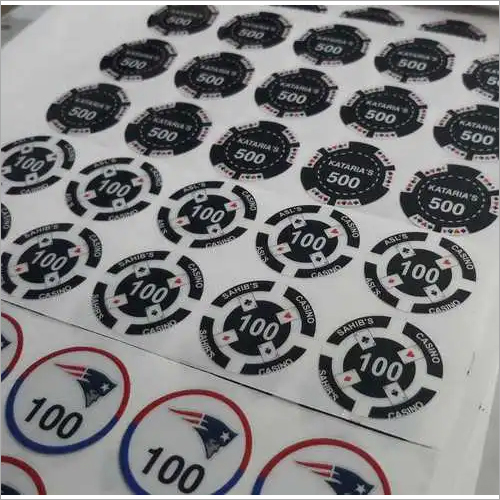 Poker Chip Sticker