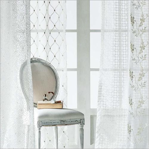 White Curtain Fabric
