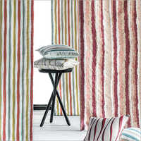Jacquard Stripe Curtain Fabric