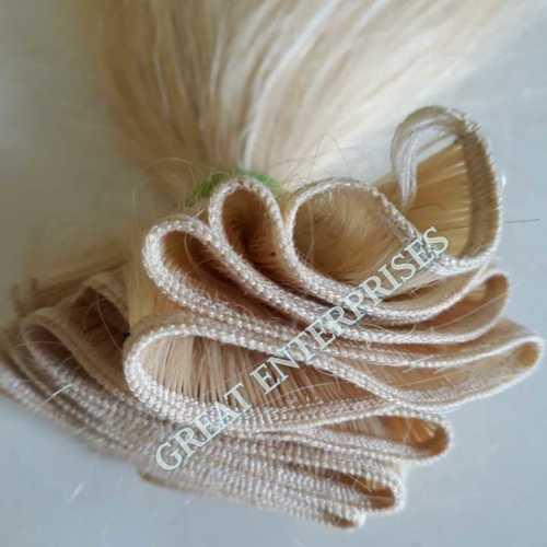 Machine Weft Blonde Hair
