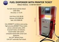 Fuel Dispenser with Printer Ticket