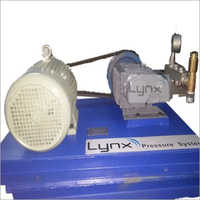 Triplex Plunger High Pressure Hydro Test Pump