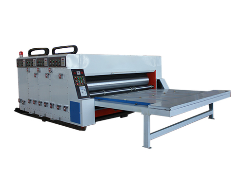 Carton Box Printing Slotting Die Cutting Machine , Semi Auto Industrial Die Cutter