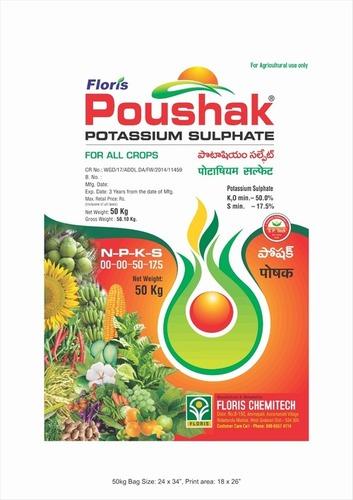Poushak Brand Potassium Sulphate For Drip (S.O.P)