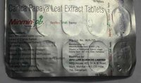 CARICA PAPAYA LEAF EXTRACT TAB