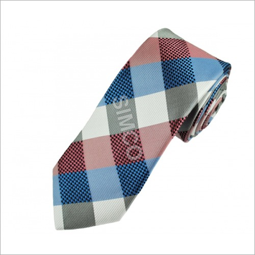 Multicolored Checked Tie