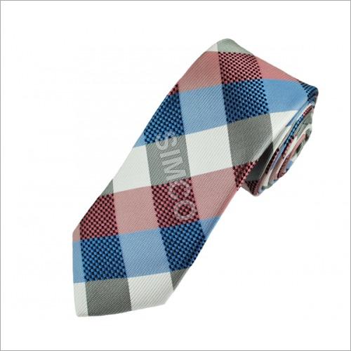 Multicolored Checked Tie