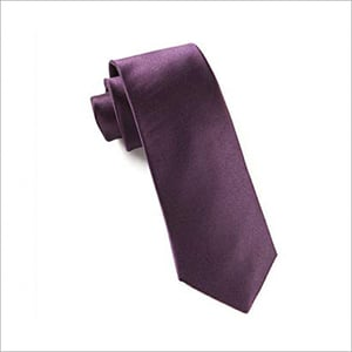Solid Satin Necktie