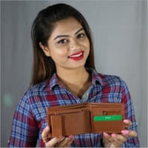 Card Holder Leather Wallet
