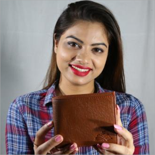 Artificial Brown Leather Wallet