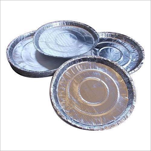 Silver Laminated Paper Thali