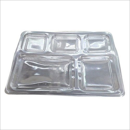 5 Compartment Food Packing Plastic Tray