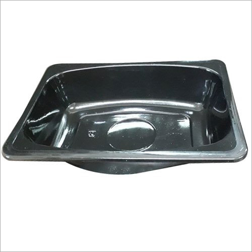 Black Disposable Plastic Container