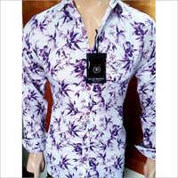 Printed Violet Shirt