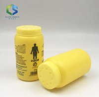 50g plastic baby talc powder shaker bottle with mesh filter cap