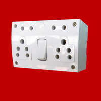 6A Twin Combined Switch Socket