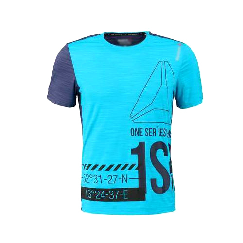 Mens Printed Round Neck Half Sleeve Cotton T Shirt