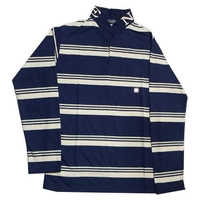 Mens Full Sleeve Striped Cotton T Shirt