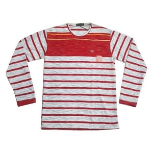 Mens Stripped Cotton Casual T Shirt